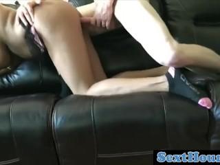 REAL black step-mom rails milky wood