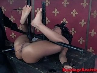 Mature victim confined and played on her back