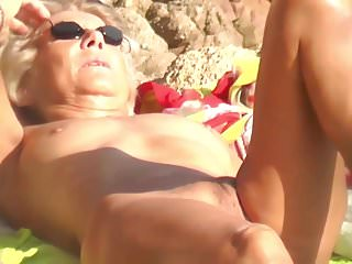 Granny nudist suntanning pussy exhib alfresco