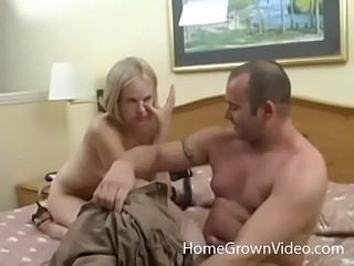 Nasty huge-titted blondie first-timer booty penetrated in a motel