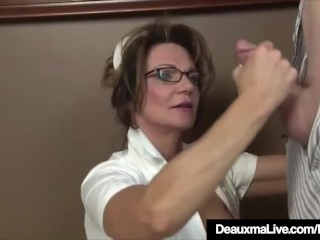 Be in charge of age be concerned Deauxma Gives come what may soaked Hot Handjob!