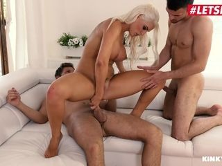 LETSDOEIT - big-boobed mother Blanche Bradburry DP'ed By Her Step-Son And His best friend
