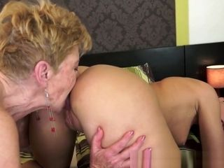 Big-titted grannie licks butthole And frigs youthful sweetheart