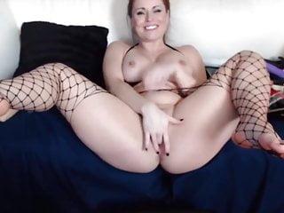 Naughty crimson cougar Chrissy with infatuating figure milks
