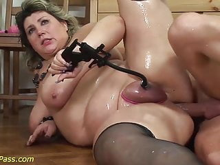 Buxom plus-size mature tough ass fucking pulverized
