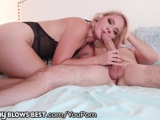 MommyBlowsBest Lisey enjoys deep-throating son the Most