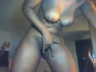 Stellar dark-hued cougar on web cam