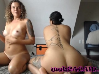 Mommy and daughter-in-law gobbling twat to each other