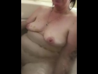 My filthy wifey getting finger pounded in spa with fucktoy dude