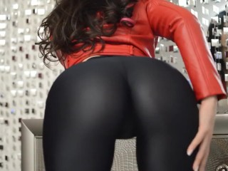 Karina - huge donk On Leather trousers [LiveJasmin Babes]