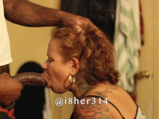 Bj my entire big black cock