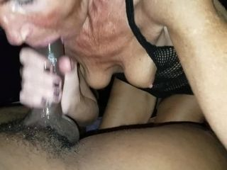 Moist gloppy GILF multiracial blow-job
