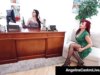 Plumper physician Angelina Castro strap dildo plows cougar mind-blowing Vanessa!