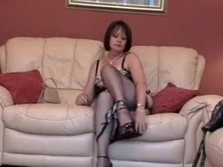Surprising homemade by oneself unspecified, Stockings sexual connection hang on