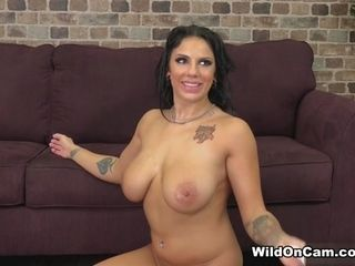 Lylith LaVey & Marcus Dupree in buxomy and prepared for hookup - WildOnCam