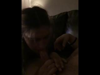 Brief grubby inhale job