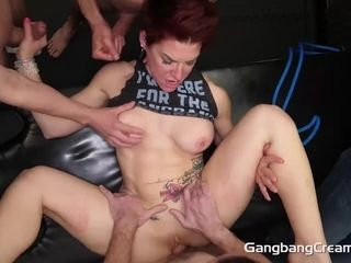 Spear greedy SWINGER cougar GETS ALL fuckholes packed