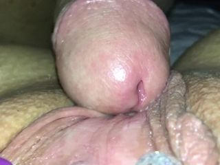 Daddy's tiny nymph takes his giant internal ejaculation explosions (creamypussy)