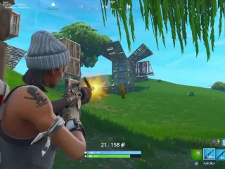 FORTNITE NOOBS GET butt-banged IN four V 1 CLUTCH