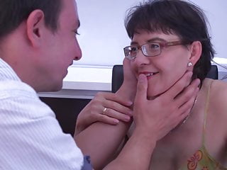 Inexperienced mummy deepthroat and poke youthful stud