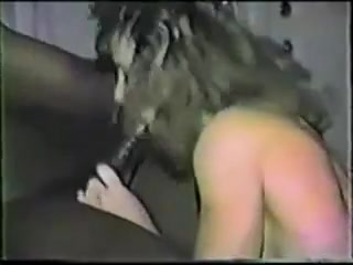 Smallish wifey takes big black cock