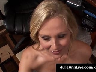 Office cougar Julia Ann deepthroats On Her Co Worker&#039_s fuckpole At Work!
